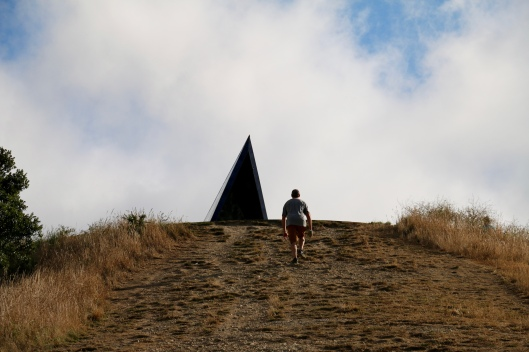 Jim climbing Mount Victoria