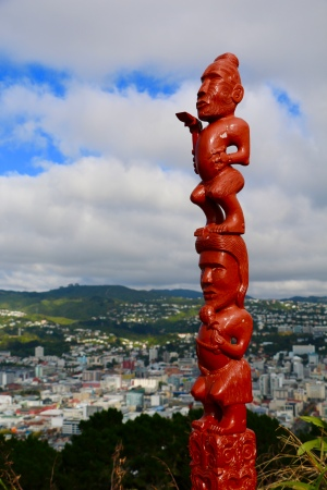 A cool totem pool atop Mount Victoria